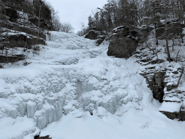 Frozen Hector Falls by Seneca Lake, NY