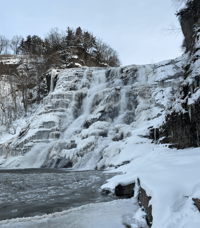 Ithaca Falls Trail in Winter