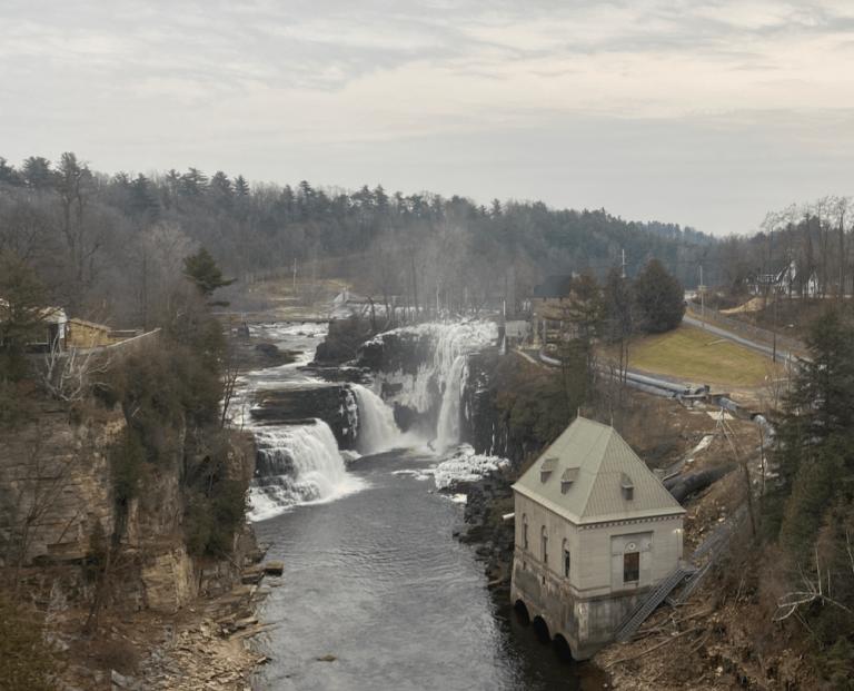 Rainbow Falls at Ausable Chasm (Adirondacks), NY