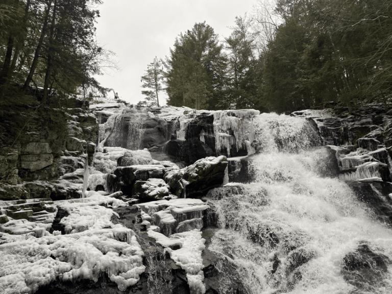 Shelving Rock Falls: Adirondack Waterfall Near Lake George