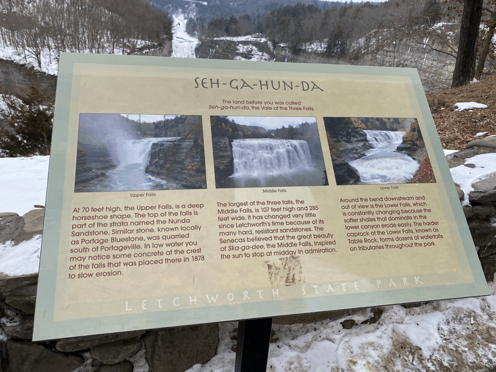 The waterfalls in Letchworth State Park