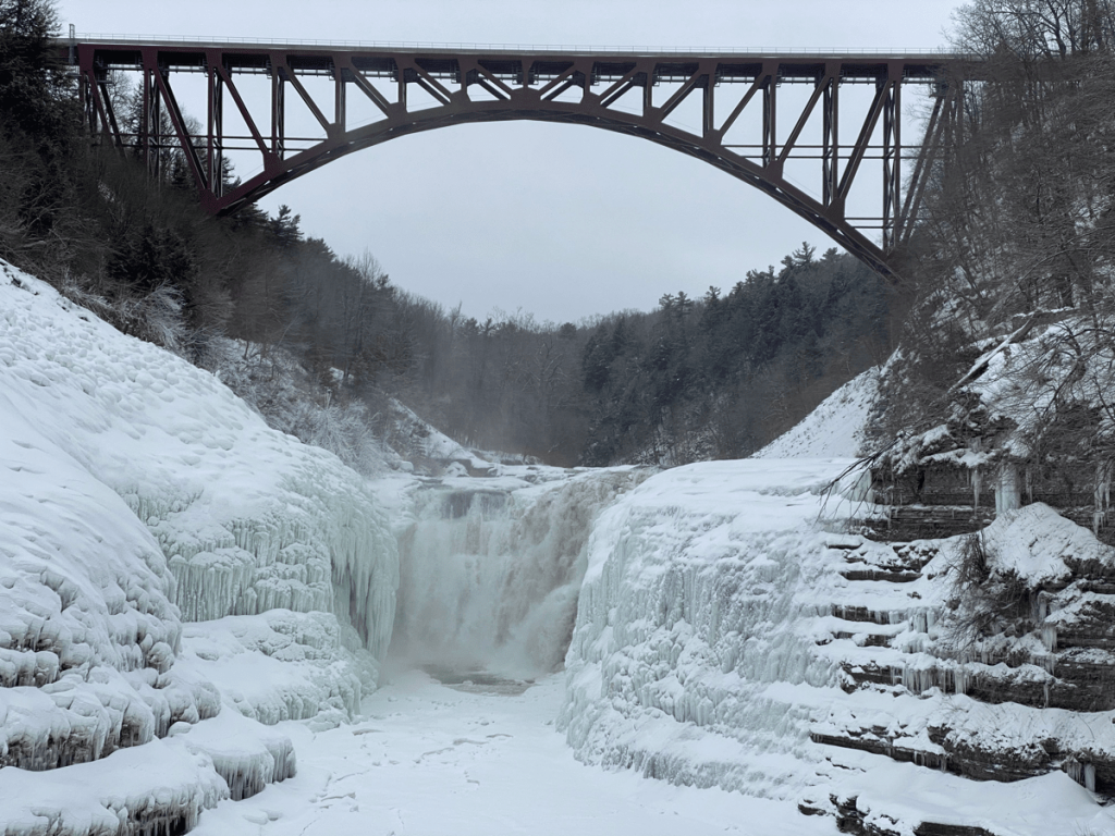upper falls in Letchworth State Park