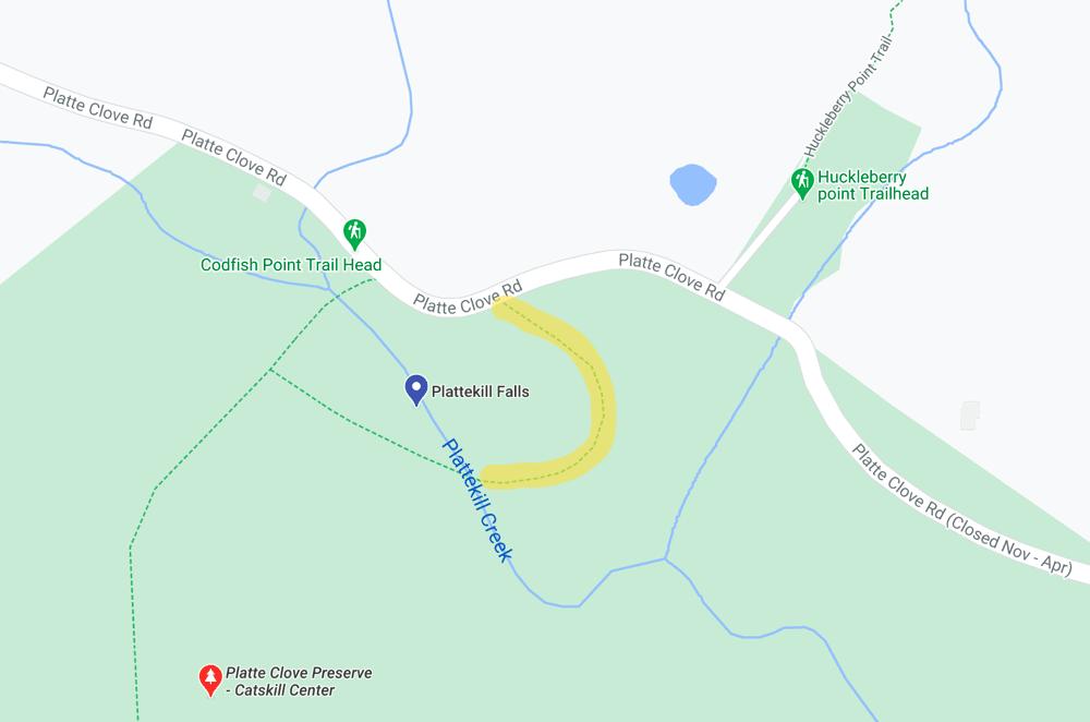 Plattekill Falls Trail Map