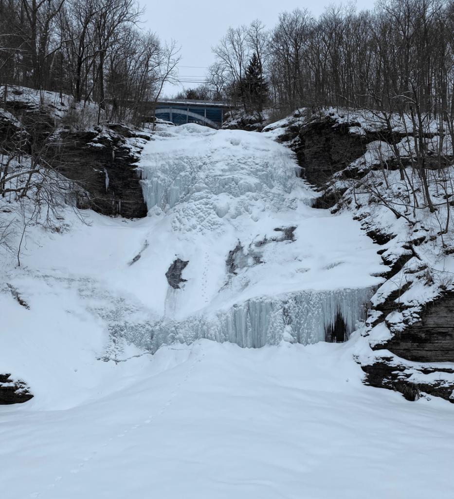frozen Shequaga Falls