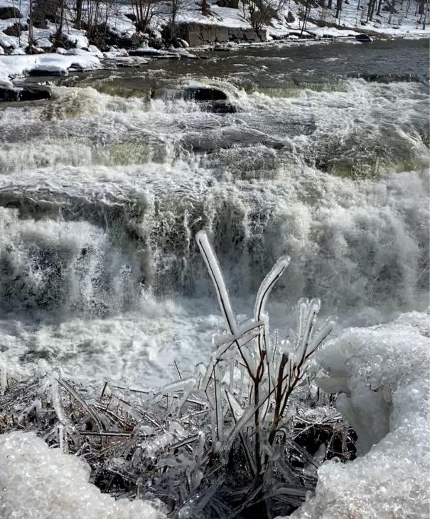 Deer River Falls in Lewis County, New York